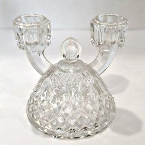 40's Indiana Glass Hollywood Regency Candle Holder
